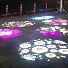 렌즈 디자인 -빛바닥광고. 빛으로. 빛모아. 바닥광고